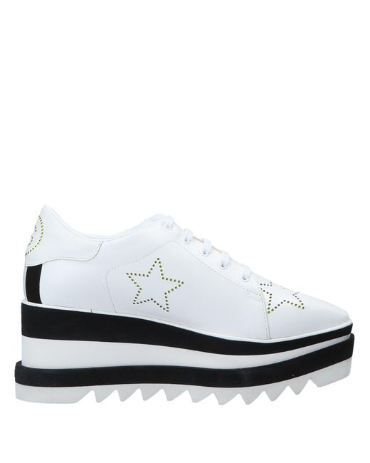Stella McCartney - White Elyse Metallic Star Sneaker Wedges - Lyst