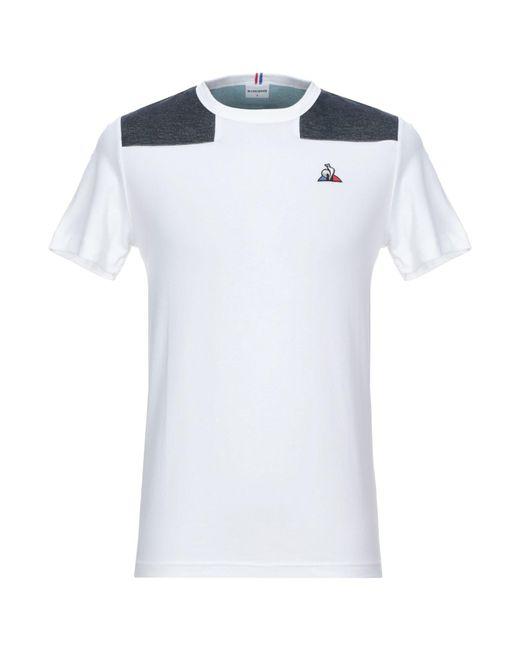 Le Coq Sportif White T-shirt for men
