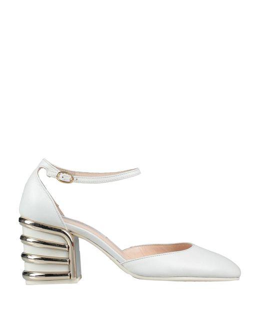 Roberto Festa Zapatos de salón de mujer de color blanco
