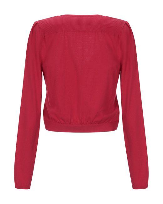 Boutique Moschino Red Strickjacke