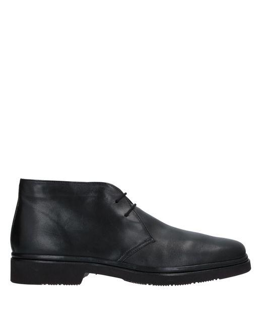 Aldo Brue' Black Ankle Boots for men