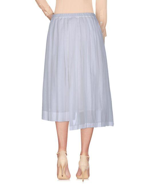 N°21 White 3/4 Length Skirt