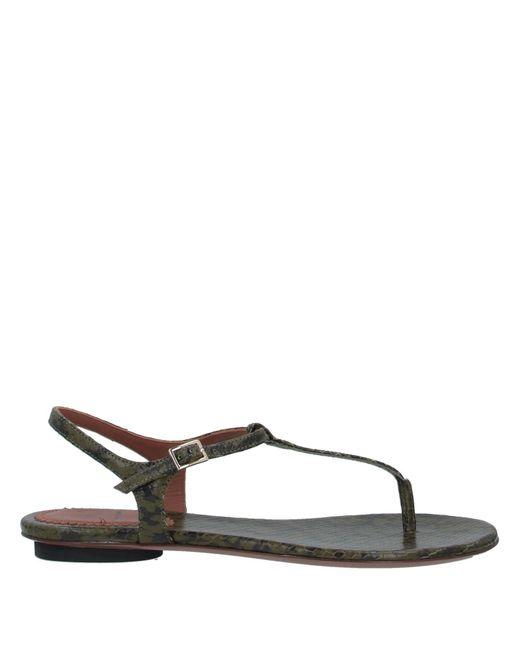 L'Autre Chose Multicolor Toe Post Sandal
