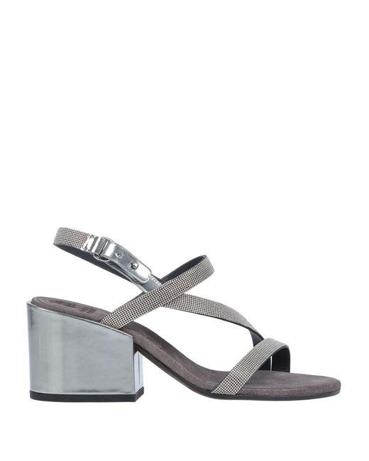 Brunello Cucinelli Metallic Sandale