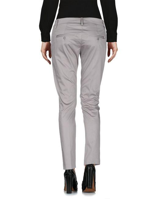 Dondup Pantalon femme de coloris gris