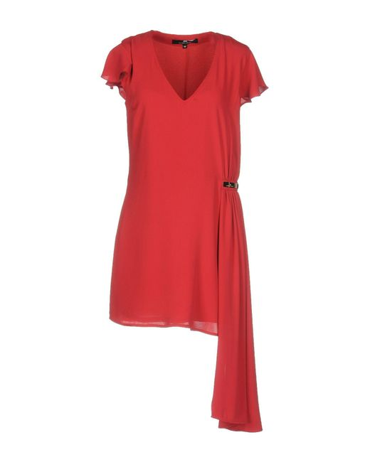 Elisabetta Franchi - Red Short Dress - Lyst