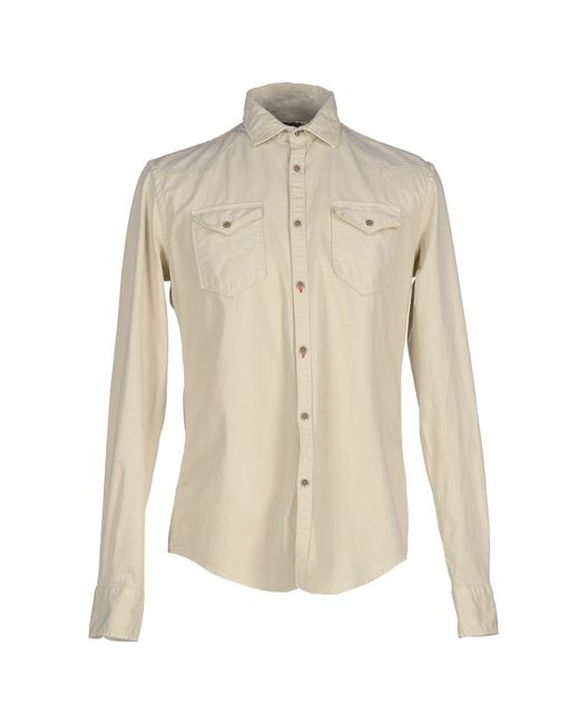 Aglini - Natural Shirt for Men - Lyst