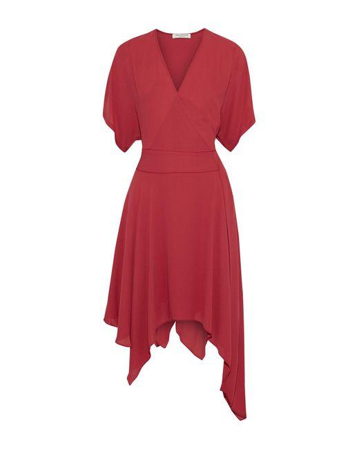 Halston Minivestido de mujer de color rojo