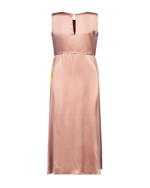 L'Autre Chose Vestido a media pierna de mujer de color rosa