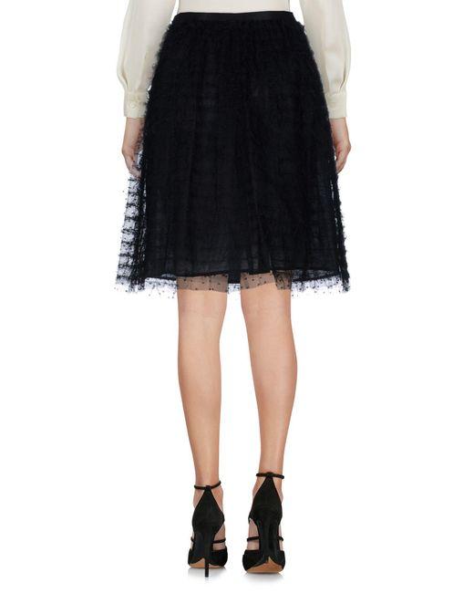 RED Valentino Black Knee Length Skirt