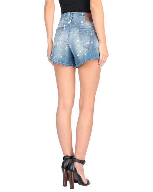 Short en jean Pinko en coloris Blue