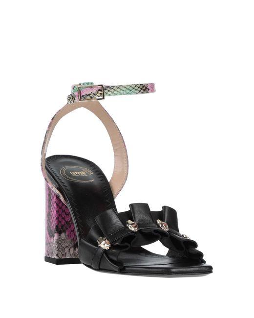 Sandali di Class Roberto Cavalli in Black