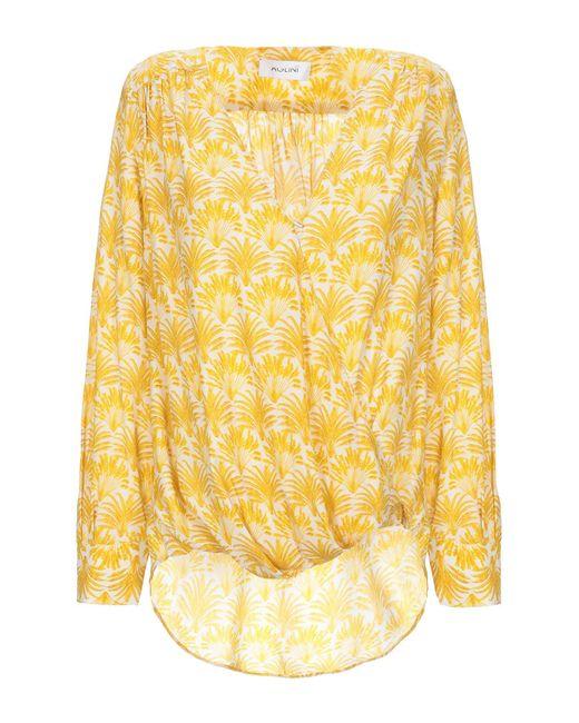 Aglini Blusa de mujer de color amarillo fFvrH
