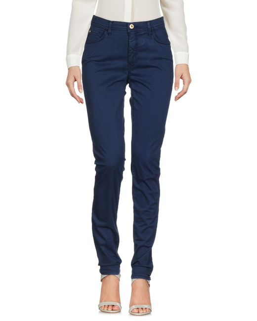 Pantalones Trussardi de color Blue