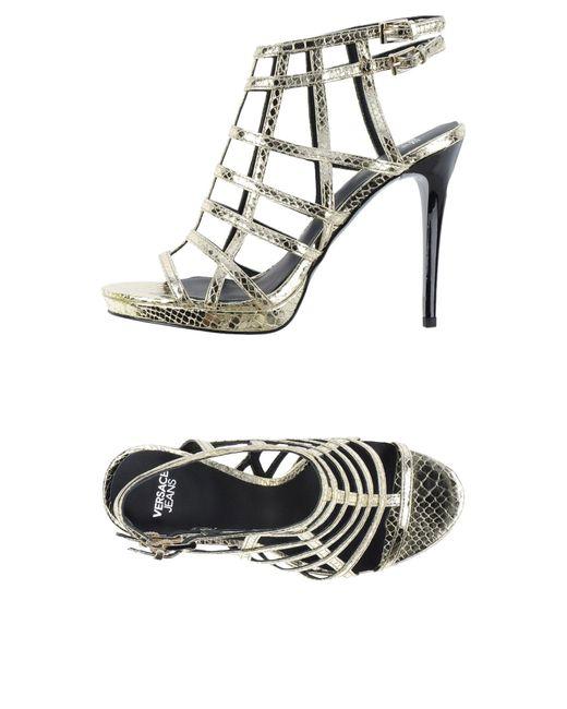 Versace Jeans | Metallic Sandals | Lyst