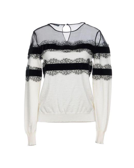 Alberta Ferretti - White Sweater - Lyst