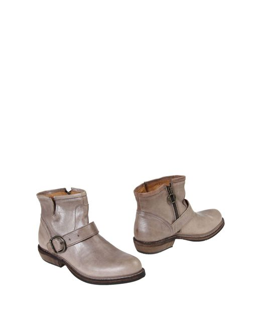 Fiorentini + Baker | Gray Ankle Boots | Lyst