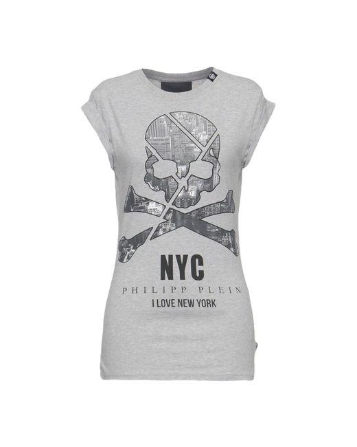 Philipp Plein Gray T-shirts