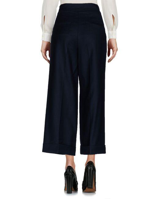 European Culture Pantalon femme de coloris noir