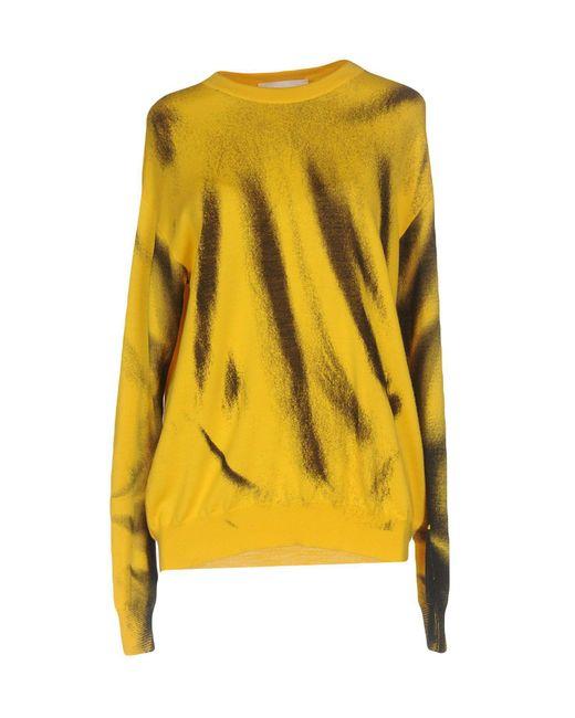 Moschino - Yellow Sweaters - Lyst