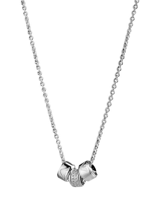 Emporio Armani - Metallic Necklace - Lyst