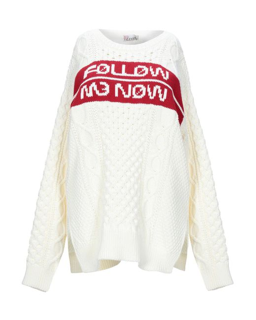 RED Valentino White Pullover