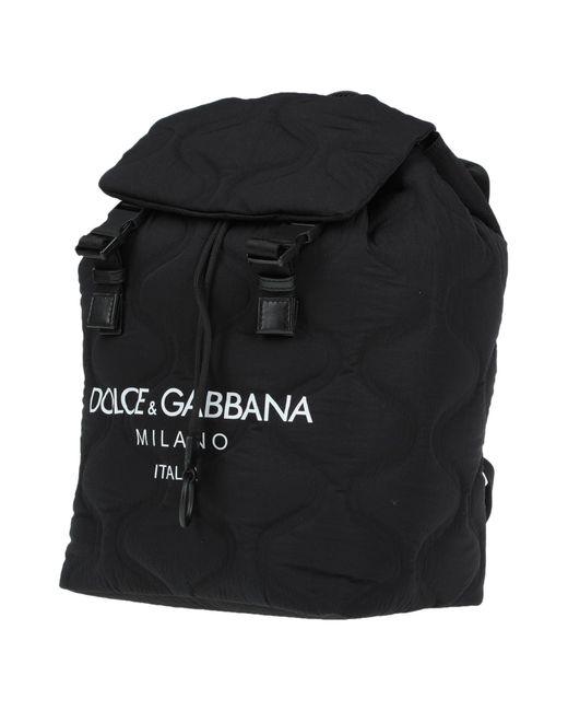 Dolce & Gabbana Black Rucksack for men