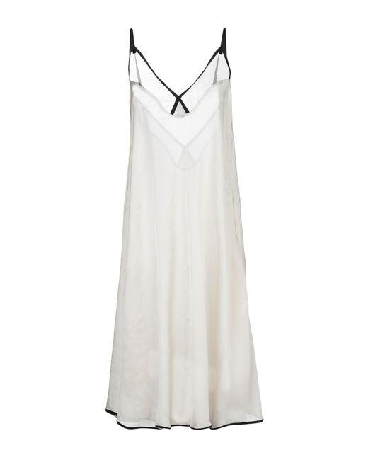 Sacai White Knee-length Dress