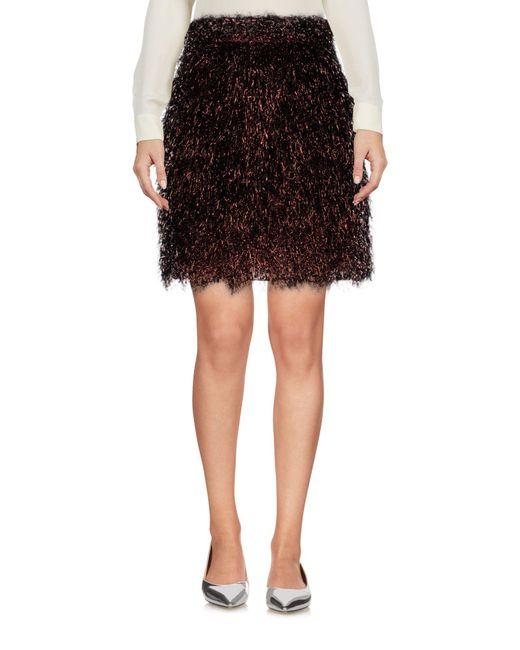 Mini-jupe MSGM en coloris Black