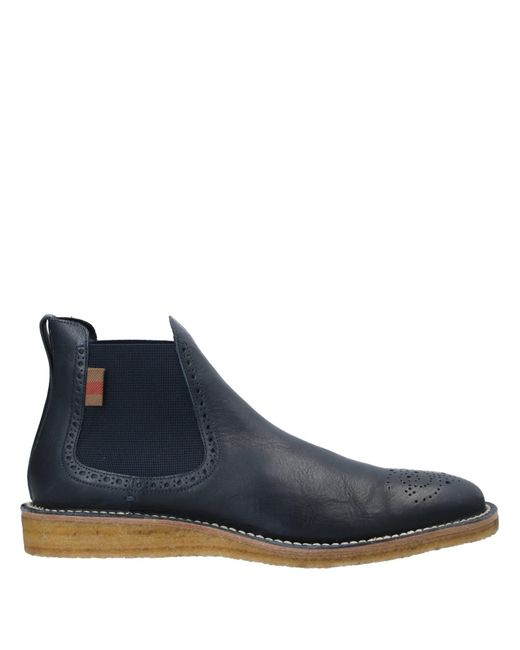 Burberry Blue Ankle Boots for men