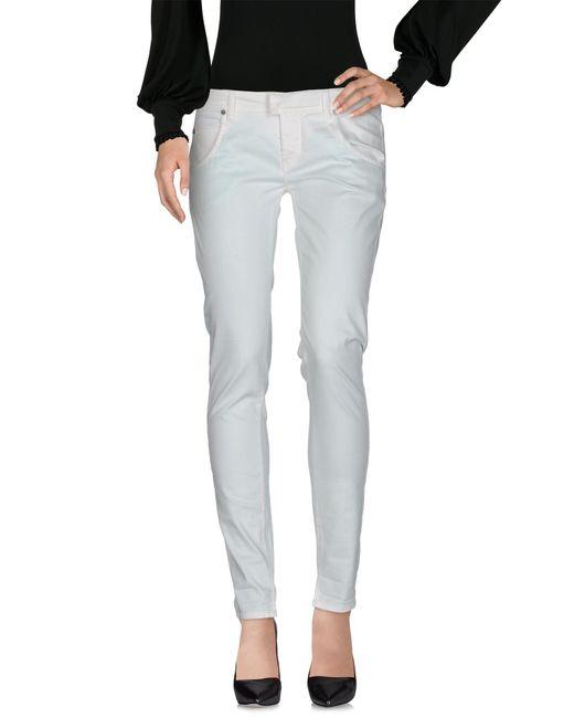 Manila Grace White Casual Pants