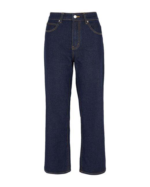 8 by YOOX Blue Denim Pants