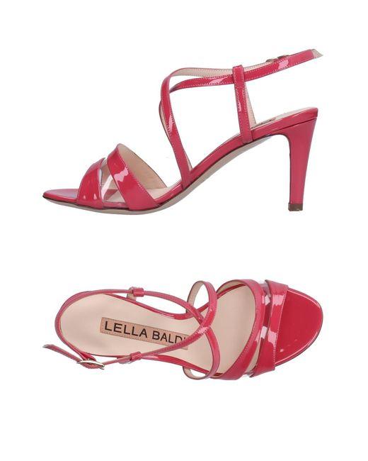 Lella Baldi - Pink Sandals - Lyst