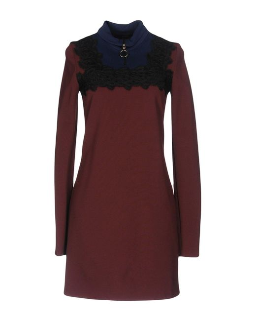 Pinko Purple Short Dress