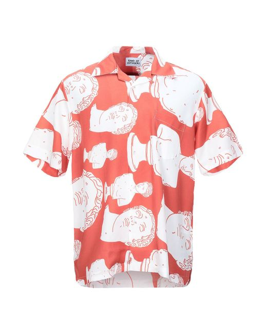 Band of Outsiders Red Summer Shirt for men