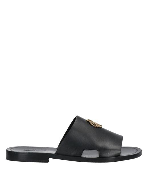 Roberto Cavalli Black Sandals for men