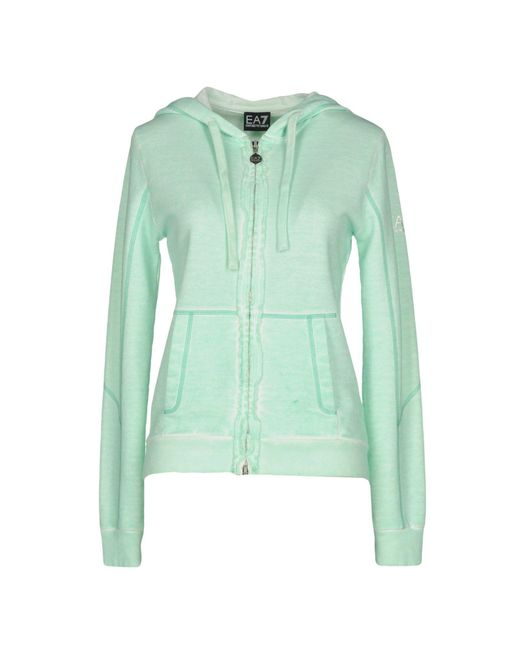 EA7 - Green Sweatshirt - Lyst