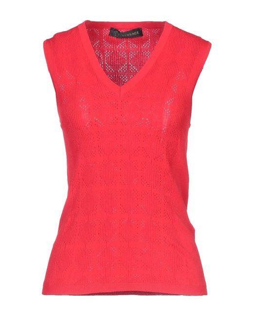 Versace Pullover de mujer de color rojo tCVVS