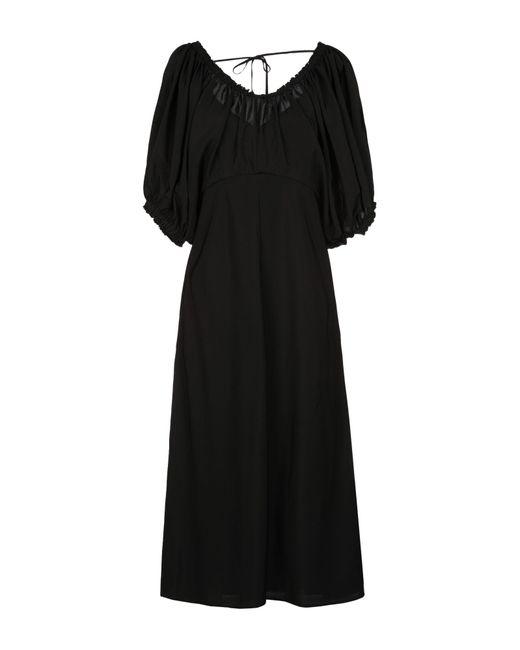 Tibi Black Knielanges Kleid