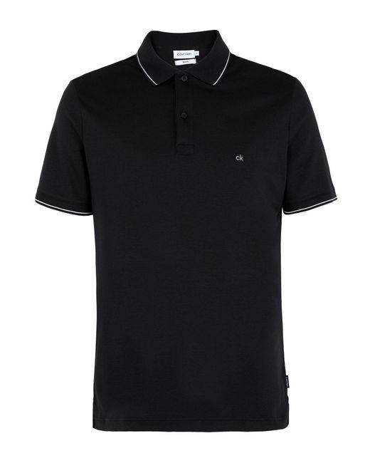 Polo di Calvin Klein in Black da Uomo