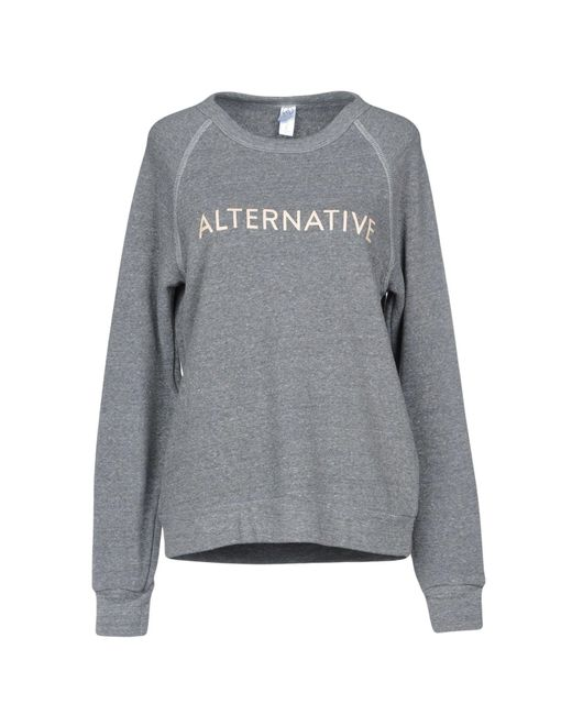 Alternative Apparel - Gray Sweatshirt - Lyst