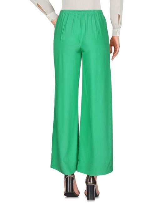 P.A.R.O.S.H. Pantalon femme de coloris vert