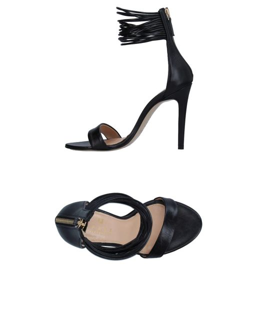 Space Style Concept - Black Sandals - Lyst