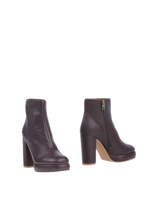 See By Chloé - Purple Ankle Boots - Lyst