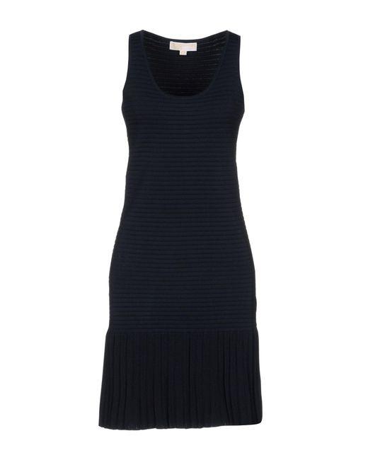 MICHAEL Michael Kors - Blue Short Dress - Lyst