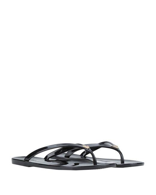 ae95500f2 ... Emporio Armani - Black Toe Post Sandal - Lyst