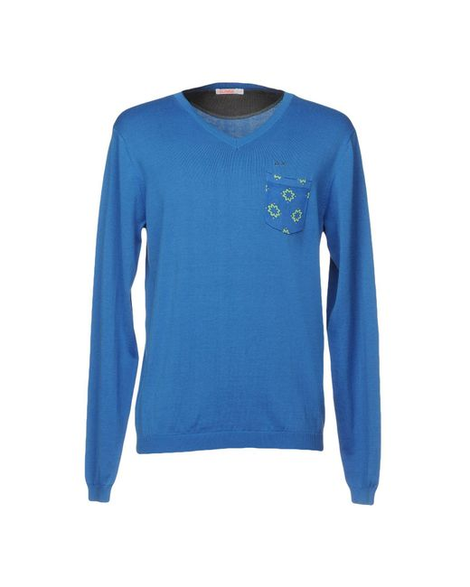Sun 68 Blue Sweater for men