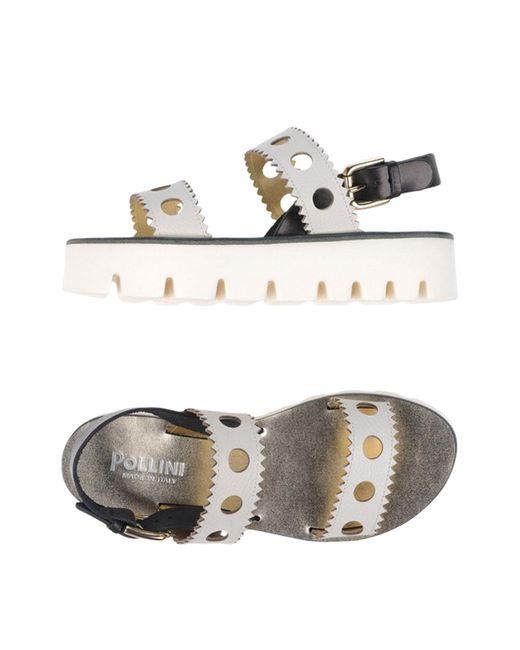 Pollini - White Sandals - Lyst