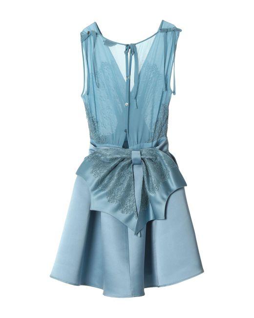 Robe courte Elisabetta Franchi en coloris Blue