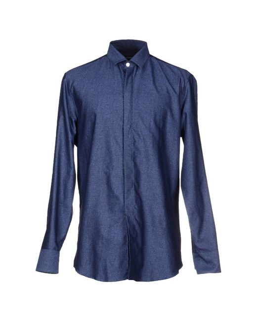 Dirk Bikkembergs - Blue Shirt for Men - Lyst